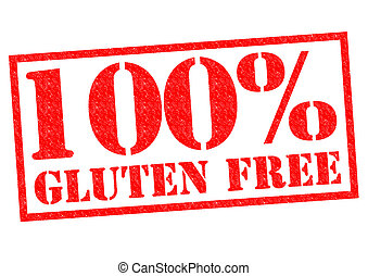 100 GLUTEN FREE red Rubber Stamp over a white background