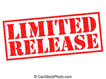 LIMITED RELEASE red Rubber Stamp over a white background.