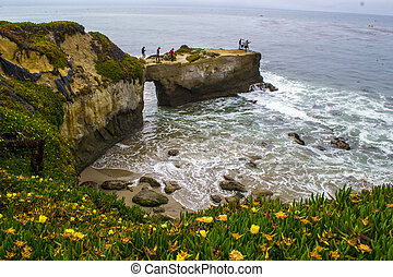 Santa Cruz Cliffs - Coastal cliff in Santa Cruz, California
