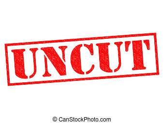 UNCUT red Rubber Stamp over a white background.