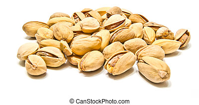 heap of yummy pistachios closeup - heap of yummy pistachios...