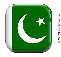 Pakistan flag isolated symbol icon.