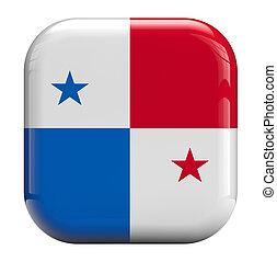 Panamá, bandera, icono,