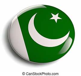 Pakistan flag design round badge.
