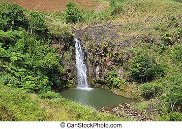 Canyon waterfall hole