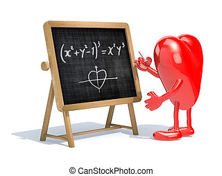 heart love math formula - heart with his arms and legs in...