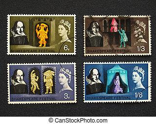 Shakespeare Festival Stamp - UK 1964 - Shakespeare Festival...