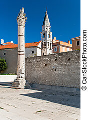 Zadar, beautiful old city in Dalmatia, Croatia