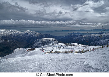 Valle Nevado - Picturesque view of piste in Valle Nevado...