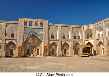 Khiva - Square in old town in Khiva, historic site and...