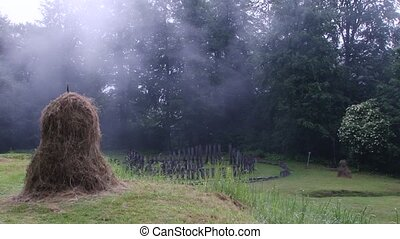 Hay Stack and Sacred Ancient Place - A hay stack and a...