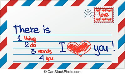 Love post card - Love card decorated using post attributes
