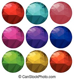 brilliant cut gems - colorful illustration with brilliant...