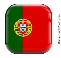 PORTUGAL, bandeira, ícone,
