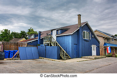 harbor house in Grand Bend in Lake Huron, Canada
