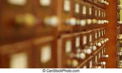 Library Drawers Focus Shifting - Moving focus over rows of...