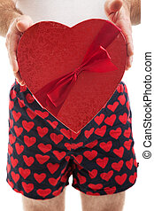 Valentines Day Hearts and Boxers