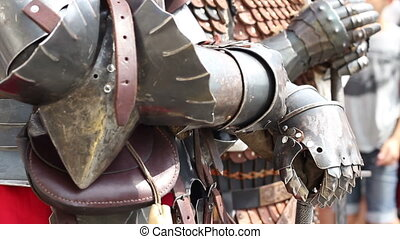 Knights in Armor - Great knights in heavy steel armor.