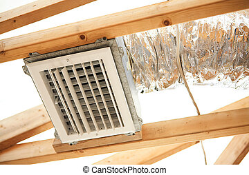 Exposed Air Conditioning Duct Work - Expoxed air...