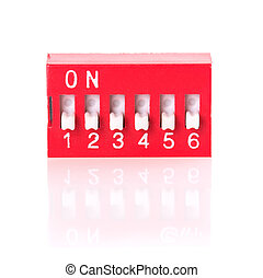 toggle - red switch with digital display