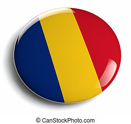 Romania flag design round badge