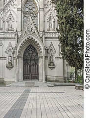 Neo Gothic Style Chapel Entrance - Front view with no people...
