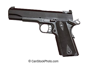Colt 22 cal. automatic pistol.  Colt Gold Cup Trophy model.