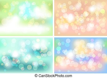 Set of colorful, abstract background