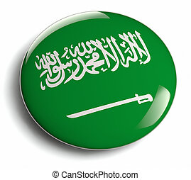 Saudi Arabia flag design isolated.