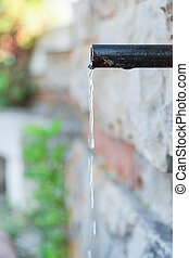water pipe spring stone Wall