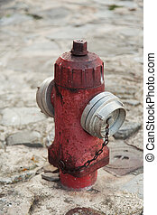 hydrant - old hydrant on the street paving