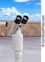 binocular telescope clouds sky background