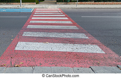 crosswalk, zebra across the road