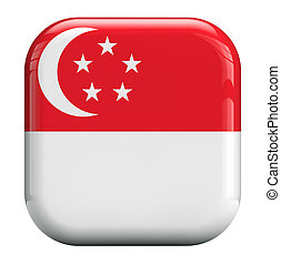 Singapore flag isolated symbol icon