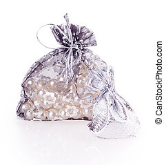 New Years gift bag isolated on white background
