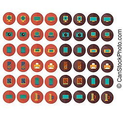 electronic vector icons set