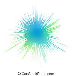 Watery ink splash - Editable vector illustration of a...