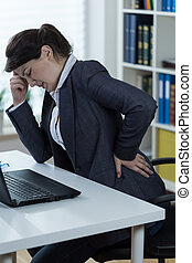 Sedentary lifestyle - Woman with sedentary lifestyle having...