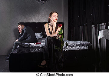 Young Couple Having Relationship Issues - Young Couple in...