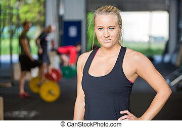 Portrait Of Confident Woman in Gym - Portrait of confident...