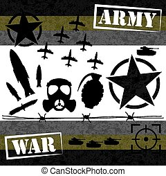 war graphic element design