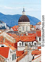 Dubrovnik, Croatia - Fortress of Dubrovnik on the Adriatic...
