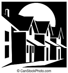 town house - Stylized vector illustration on the theme of of...