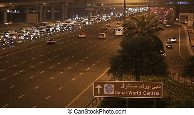 traffic jam on Sheikh Zayed Road - traffic jam on the Sheikh...
