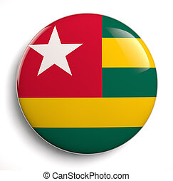Togo flag - Togo icon. Clipping path included.