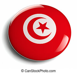 Tunisia flag design round badge.