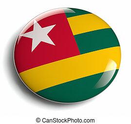 Togo flag design round badge.