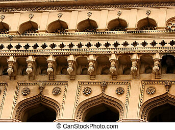 Charminar Architecture - Details of 400 year old historic...