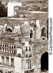 Golkonda Fort - Historic Golkonda fort in Hyderabad city...