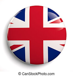 British flag icon. Clipping path included.